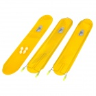 OQsport D-12 Large Plastic + Stainless Steel + Silicone Bike Mudguard Set - Yellow + Silver