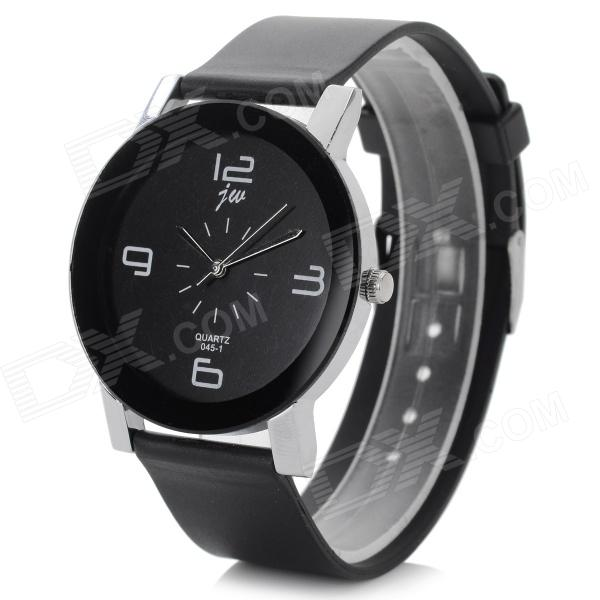 Simple Stylish Analog Quartz Wristwatch - Black (1 x CR1220)