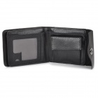 Men's Classic Foldable Leather + PU Wallet - Black