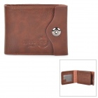 Men's Classic Foldable Leather + PU Wallet - Brown