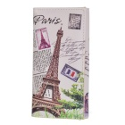 Women's Fashionable Retro Eiffel Tower Pattern PU Purse Handbag - Grey + White