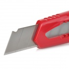 Deli 2004 Handy Anti-skid Retractable Utility Knife w/ Handheld Lock - Black + Red