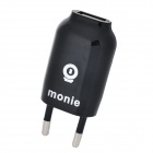Monie Universal USB 5V 1.5A EU Plug Power Adapter - Black (110~240V)