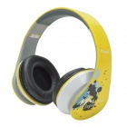 HAVIT HV-85D Adjustable Big Ear Pad Headphones w/ Microphone - Yellow + Black + White