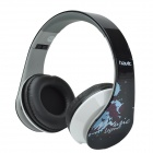 HAVIT HV-85D Adjustable Big Ear Pad Headphones w/ Microphone - Black + White