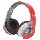 HAVIT HV-85D Adjustable Big Ear Pad Headphones w/ Microphone - Red + Black + White