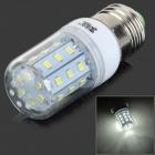 JRLED E27 4W 320LM 6500K 30-2835 SMD LED White Light Lamp - Silver + White (AC 220~240V)