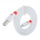 USB 2.0 to Micro USB 5-Pin Charging / Data Sync. Cable for HTC + Xiaomi + More - White + Red (102cm)