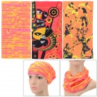 Outdoor Sports Multi-function Seamless Polyester Head Scarf - Orange + Pink (3 PCS)