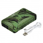 N338 Waterproof 5V 11200 Li-ion Polymer Battery Power Bank - Camouflage