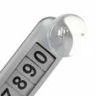 AW-D065 Car Large Puzzle Phone Number Parking Plate w/ Suction Cup - Silver