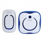 CACAZI 9809 Water Resistant AC 110~220V US Plug Wireless Digital Door Bell w/ Remote Control - White