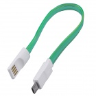 USB 2.0 de charge Micro USB / Data Sync Cable w / LED pour Samsung / Motorola + plus - vert (20cm)