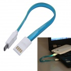 USB 2.0 to Micro USB Charging Data Sync Cable w/ LED for Samsung / Motorola + More - Blue (20cm)