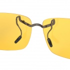 OREKA 811 Clip-on Polaroid Polarized Sports Sunglasses - Yellow