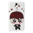 Kinston Small Boy Pattern Hard Case for Samsung Galaxy Note 2 N7100