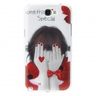 Kinston Little Girl Pattern Hard Case for Samsung Galaxy Note 2 N7100