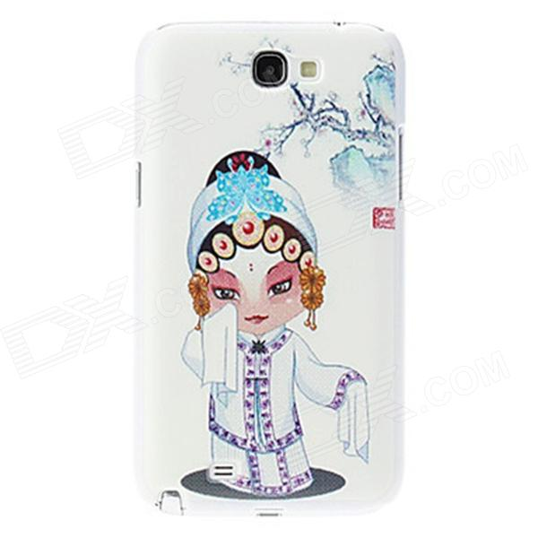 Kinston Peking Opera Woman Pattern Hard Case for Samsung Galaxy Note 2 N7100