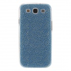 Kinston Small White Dot Pattern Plastic Protective Back Case for Samsung Galaxy S3 i9300 - Blue