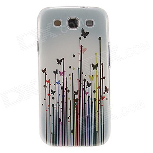 Kinston Butterflies in Grasses Pattern Plastic Protective Hard Back Case for Samsung Galaxy S3 i9300 стоимость