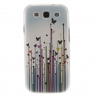 Kinston Butterflies in Grasses Pattern Plastic Protective Hard Back Case for Samsung Galaxy S3 i9300