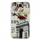 Kinston Triumphal Arch Pattern Hard Case for Samsung Galaxy S4 i9500 - Black + Yellow