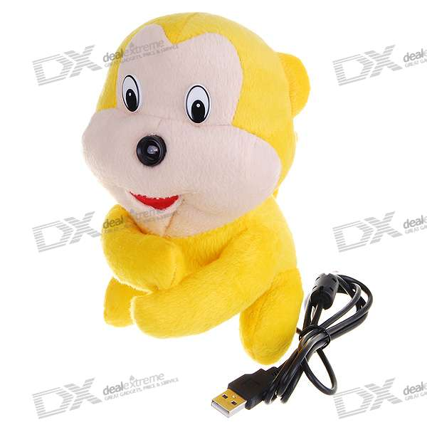 Lovely Little Monkey Doll 1.3M-Pixel USB Webcam