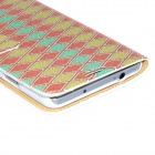 Kinston Colorful Diamond Pattern PU Leather Full Body Case for Samsung Galaxy Note 3 - Red + Yellow