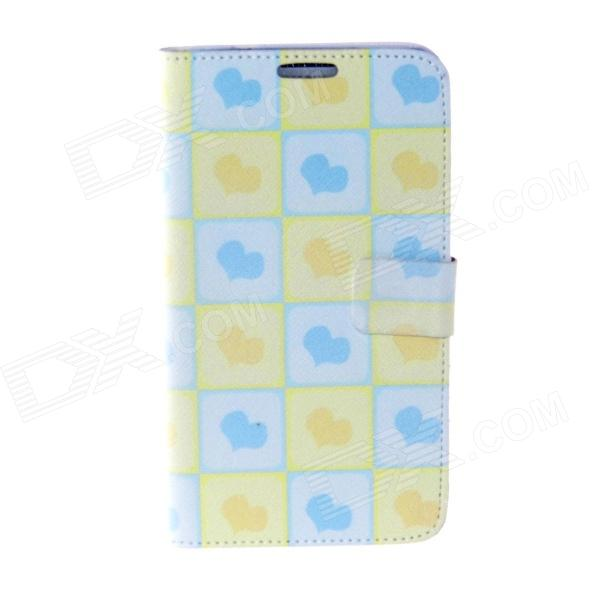 цены  Kinston Heart Of The Square Pattern PU Leather Full Body Case for Samsung Galaxy Note3