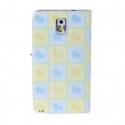 Kinston Heart Of The Square Pattern PU Leather Full Body Case for Samsung Galaxy Note3