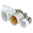 LSON 3-in-1 ABS LED Light Lamp Bulb Holder Adapter Converter - White + Silver + Green