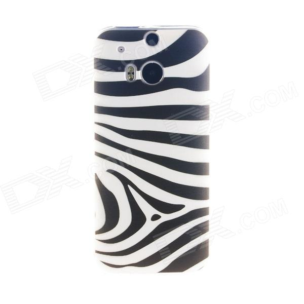 где купить  Kinston Zebra Pattern TPU Soft Case for HTC One M8 - White + Black  дешево