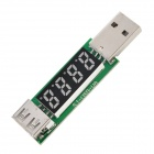 "0.3 ""4-stellige 3,5 ~ 20V / 0 ~ 3A Spannung Current Meter - White + Black + Multi-Colored"