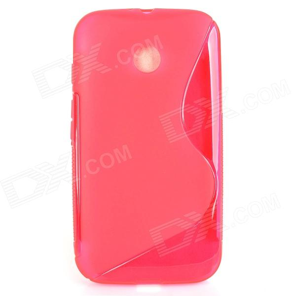 S Style Protective TPU Back Case for MOTO E - Red s style protective tpu back case for moto e black