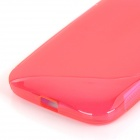 """S"" Style Protective TPU Back Case for MOTO E - Red"