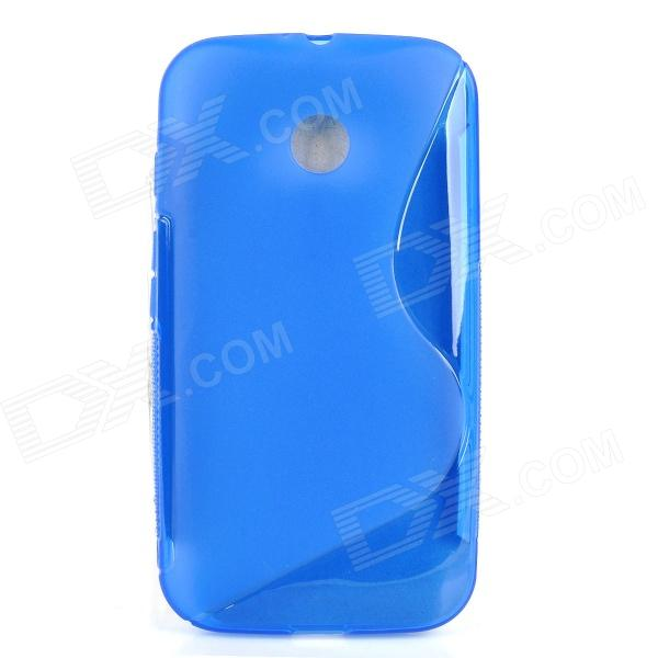 S Style Protective TPU Back Case for MOTO E - Blue x style protective tpu back case for moto e black