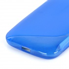 """S"" Style Protective TPU Back Case for MOTO E - Blue"