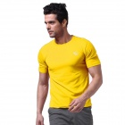 LangZuYouDang Men's Outdoor Sports Quick-Dry Short-sleeved T-shirt - Yellow (XL)