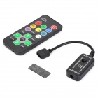 12V 3 x 2A LED RGB Light Control w/ Remote Control - Black