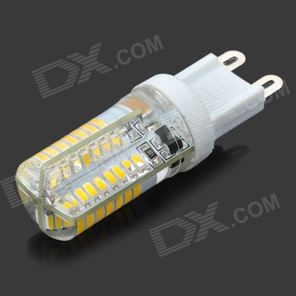 JRLED G9 5W 330lm 3300K 64-3014 SMD LED Warm White Light Bulb - White + Transparent (AC 220~240V) gc e14 3w 170lm 3000k 64 3014 smd led warm white light corn bulb ac 90 240v