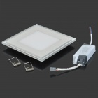 LSON Square 20W 1600lm 6500K + 450nm 100-5730 + 2835 SMD LED White + Blue Panel Lamp - White