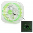 HYUNDAI HDFS-018 Mini USB Powered 5W DC 5V Table / Desk Cooling Fan w/ LED Light - Green