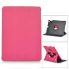 Protective Flip Open PU Leather + PC Case w/ Stand / Hand Strap for IPAD AIR - Deep Pink
