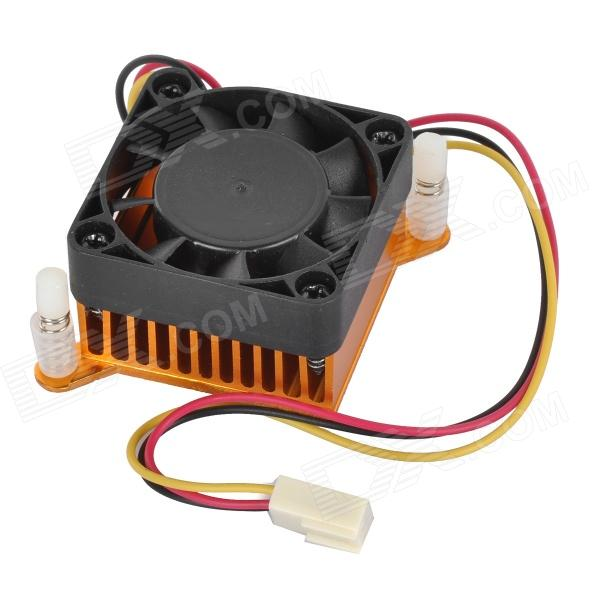 Aluminum Alloy Mute Cooling Fan - Black + Orange zhongshan juchuang jcw 823 electronic thermostat temperature controller digital temperature controller