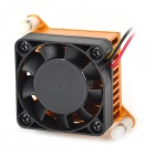 Aluminum Alloy Mute Cooling Fan - Black + Orange