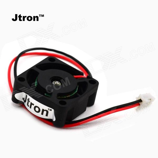 Jtron40210021 Dual Ball Bearing Mini Cooling Fan - Black (DC 24V) jtron40210021 dual ball bearing mini cooling fan black dc 24v