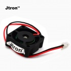 Jtron40210021 Dual Ball Bearing Mini Cooling Fan - Black (DC 24V)