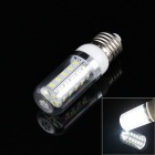 E27 5W 380lm 6000K 36-SMD 5730 LED White Light Corn Bulb - White + Translucent (AC 220V)