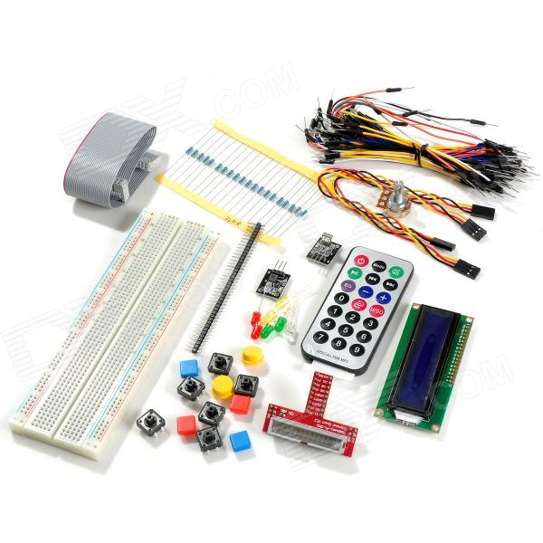 Electronic Parts Pack for Raspberry PI (Mini Remote Control White)