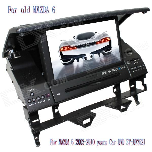 "Фото LsqSTAR 7"" Car DVD Player w/ GPS,SWC,Radio,RDS,AUX,Can Bus,6CDC,TV,Bluetooth,Dual Zone for MAZDA 6"